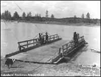 Title: Ferry, Lac Ste. Anne, Alberta. Date: [ca. 1910-1912] Credit: The Glenbow Museum (Image No. NA-3219-18)
