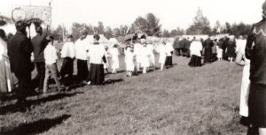 Title: Lac Ste. Anne Pilgrimage. Date: 1933 Credit: Alberta Beach & District Museum & Archives Society.