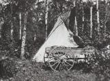 Title: Teepee at Pilgrimage. Credit: Alberta Beach & District Museum & Archives Society.
